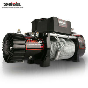 X bull Electric Winch Steel Cable 13000lbs 12v Offroad Jeep Truck Towing Trailer