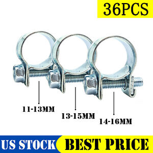 New 33 Pcs 1 4 5 16 3 8 Fuel Injection Gas Line Hose Clamps Clip Pipe Clamp