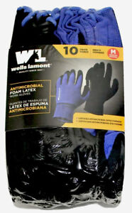 Wells Lamont Antimicrobial Foam Latex Work Gloves 10 Pairs