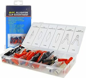 Alligator Clips Electrical Test Clamps Set Repair Broken Leads On Test Equipment