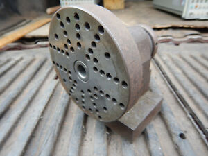 Older Small Spin Fixture With Faceplate W 1 4 20 Holes Machinist Jig Fixture