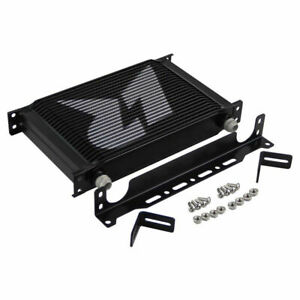 Universal An10 25 Row Engine Oil Cooler With 248mm Mounting Bracket Kit Black