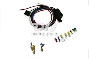 Radiator Engine Fan Temperature Switch Thermostat Relay Kit 3 8 Thread Electric