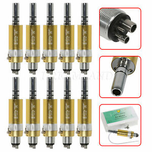 Lot Nsk Style Dental Slow Low Speed Handpiece Air Motor 4 Holes E type Gold Rx 2