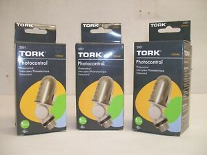 Lot Of 3 New In Boxes Nsi Tork 2001 120v Photocontrol Photoeye 1 2 Conduit Mt