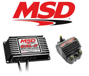 Msd Ignition Kit 65303 Digital Programmable 6al 2 Ignition Box Blaster Ss Coil