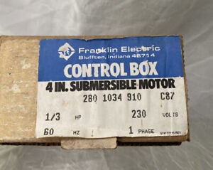 Franklin Electric Control Box 4in Submersible Motor 280 Sub Pump 1034 910 1 3 Hp