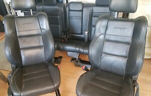 2016 2019 Oem Jeep Grand Cherokee Srt 8 Front Rear All Leather Seats Black