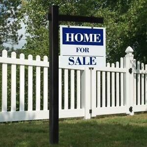 6 Upvc Real Estate Sign Post Open House Yard Home For Sale White W Stake