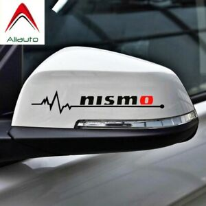 1pair Nismo Sticker Decal Black Sideview Mirror Window Or Bumper Jdm