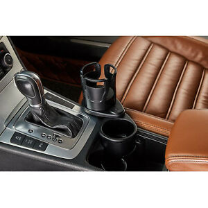 Universal 2in1 Dual Car Coffee Water Cup Holder Mount Extender Organizer
