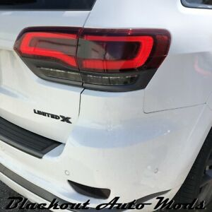 2014 2021 Grand Cherokee Tail Light Dark Smoke Vinyl Overlay Track Hawk Style