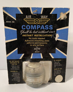 Vintage Airway Compass Accessory Auto Boat Air Way New Nos Sealed Model 592