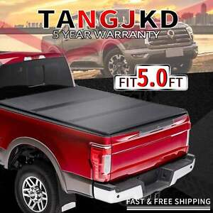 Hard Tri Fold Tonneau Cover For 2019 2020 Jeep Gladiator Sport 5ft Truck Bed