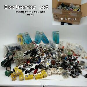 Electronic Parts Components Grab Bag Lot 10 Lbs Of New Old Stock Items