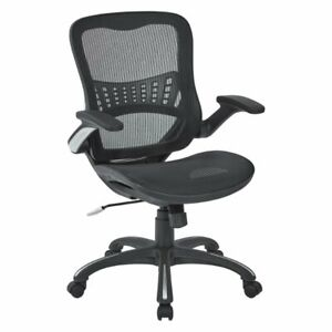 Mesh Black Fabric Seat And Back Managers Chair By Office Star