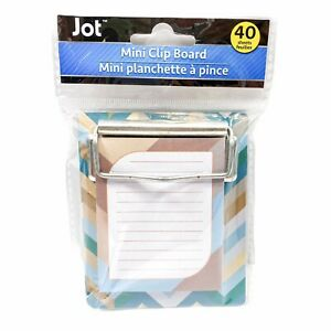 Jot Colorful Chevron Stripes Mini Clipboard Notepad 40 Sheets 3 25in X 3 50in