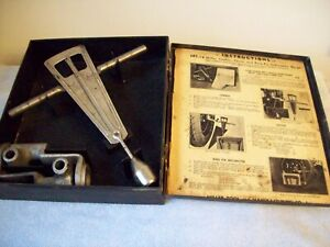 Vintage Miller Mt16 Camber Caster King Pin Inclination Gauge original Metal Box