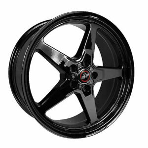 Race Star Wheels Rim 92 Drag Star Dark Star Black Chrome 17x8 5x4 75 0 0