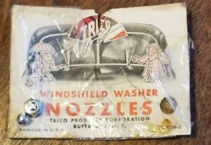 Vintage Nos Trico Windshield Washer Nozzle On The Original Card 1930 s 40 s