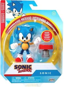 SONIC THE HEDGEHOG 2021 WAVE 4 Jakks Pacific 4quot; SONIC w Spring Brand NEW IN HAND $19.99