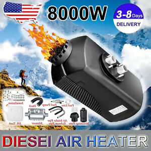 12v 8000w Air Diesel Heater Parking Fuel Heater Truck Boat Bus 2021 Usa Stock A