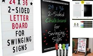 24 x36 Replacement Changable Letter Message Board For Swinging Signs