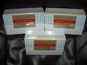 New Lot 3 Packs White Colors Index Cards 200 Each Lined Ruled 600 Total