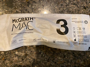 new Mcgrath Mac 3 Disposable Laryngoscope Blade 350 004 000 Exp 08 2023