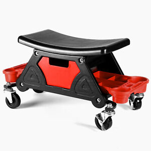 Detailing Garage Roller Stool Creeper Seat Mechanic Chair Tools Tray Auto Shop