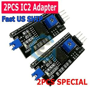 2pcs Iic I2c Serial Interface Adapter Module For Lcd Display 1602 2004 Arduino