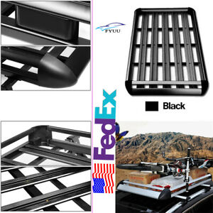 50 X38 Roof Rack Carsuv Top Cargo Luggage Bag Carrier Basket Include Crossbar