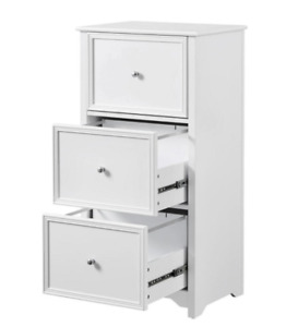 Bradstone 3 Drawer White File Cabinet