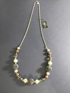 Cookie Lee 30quot; Gold amp; Bronze Beaded Necklace NWT $32 Z $6.00