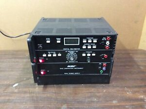 Lab volt Dual Power Supply 1242 Used Condition Broken Handle Powers On works