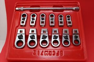 Blue point Bfcrm712 8mm 19mm 12 Point Ratcheting Crowfoot Socket Wrench Set
