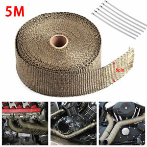 Universal 5 Meters Manifold Header Exhaust Thermal Heat Tape Wrap Stainless Ties