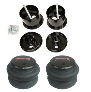 Front Air Ride Suspension Kit W 2600 Air Bags Mounting Cups For 61 62 Cadillac