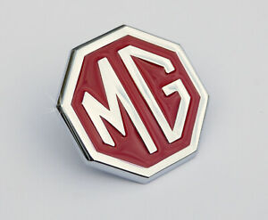 Mgbgt Mgb Mg Midget Concourse Le Red And Chrome Front Grill Badge Bhh2688