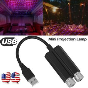 Usb Car Interior Led Star Projector Lights Mini Roof Atmosphere Starry Sky Lamp