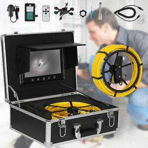 7 Lcd 30m Pipe Inspection 1000 Tvl Video Camera Led Drain Pipe Sewer Waterproof