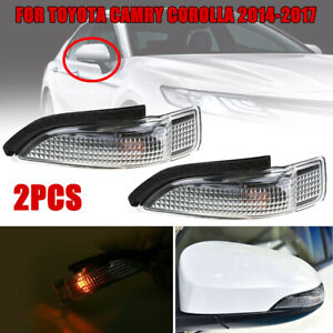 2pc set Car Side Mirror Turn Signal Light Lamps For Toyota Camry Corolla 2014 18