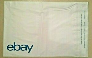 20 Ebay branded Poly Mailing Shipping Envelopes Blue Print 12 X 15 Self Seal