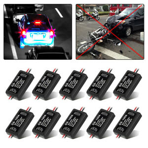 10x Gs 100a Flash Strobe Controller Flasher Module Box For Led Brake Stop Light