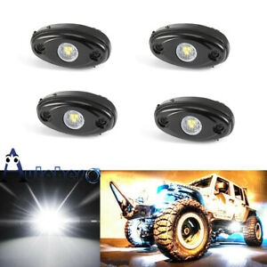 4 Underbody Pods Led Rock Light Kit For Jeep Atv Suv Off road Car Truck Boat