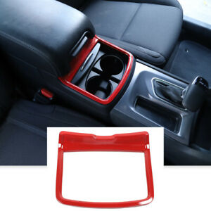 Central Console Cup Holder Trim Cover For 11 Dodge Charger Chrysler 300 Red T