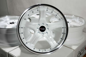 18 White Wheels Rims Acura Legend Tc Tl Accord Civic Miata Cooper Corolla Jetta