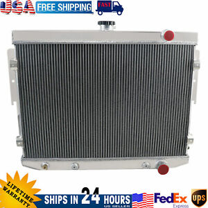 4 Rows Aluminum Radiator For 1973 1978 Dodge Charger Plymouth Chrysler 6 6l 7 2l