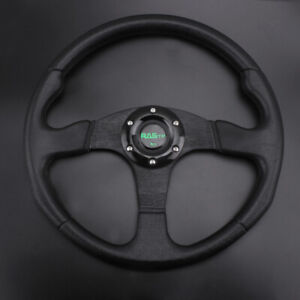 Blue Aluminum 13 340mm Universal 6 Bolt Racing Drifting Sport Steering Wheel Us