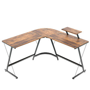 Computer Desk Pc L shaped Table Gaming Study Workstation Home Office Desk